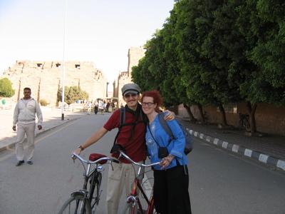 Biking in Karnak